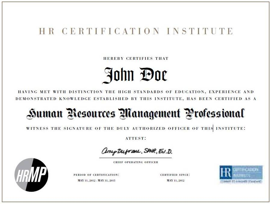 Professional In Human Resources Professional Human Resources